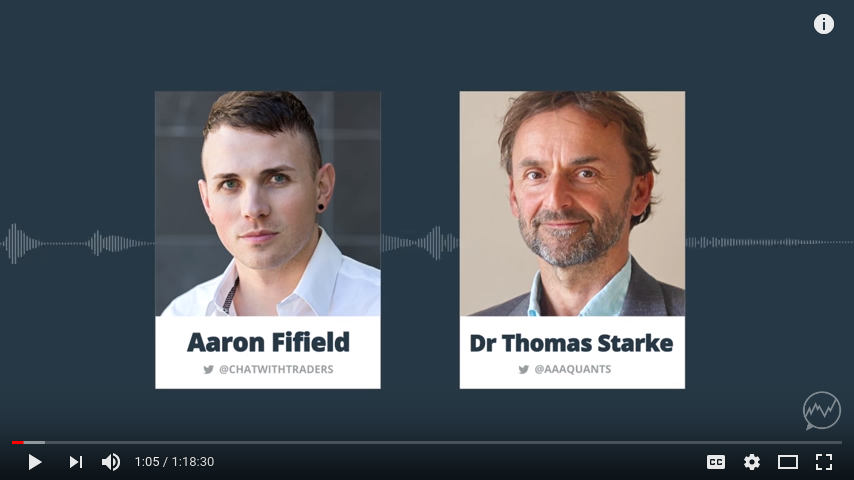 Dr. Tom Starke on Chat With Traders